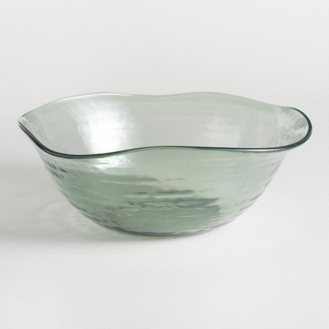 Acrylic Textured Serving Bowl
