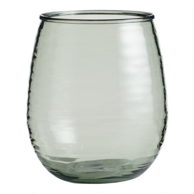 Textured Acrylic Stemless Wine Glasses Set of 4