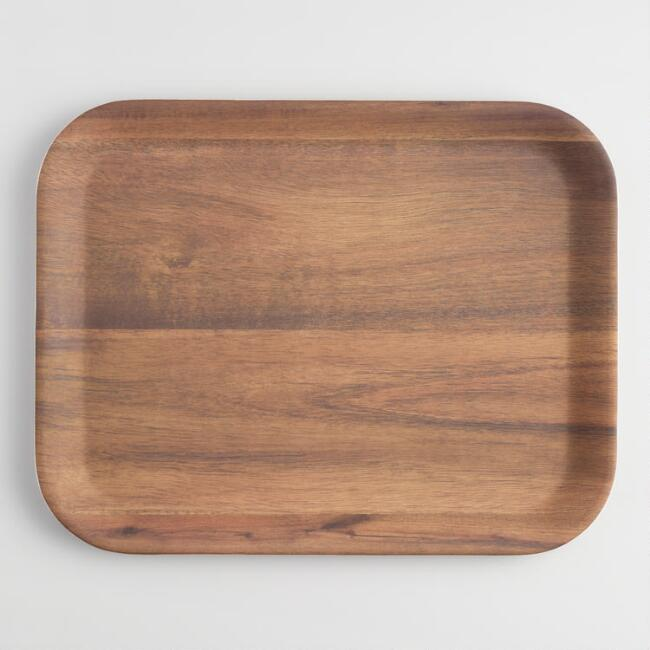 Melamine Faux Wood Tray
