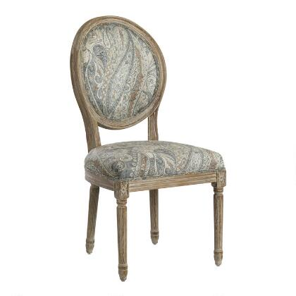 dove paisley paige round back dining chairs set