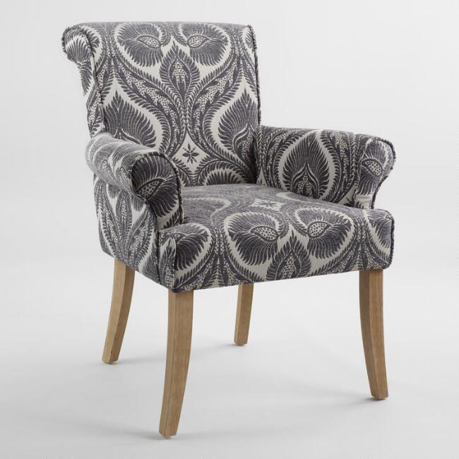 Charcoal Burma Nugget Londra Upholstered Chair