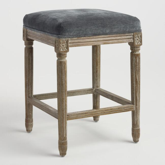 Coal Paige Backless Counter Stool