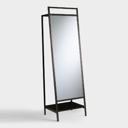 Black Modern Brooklyn Mirror Organizer
