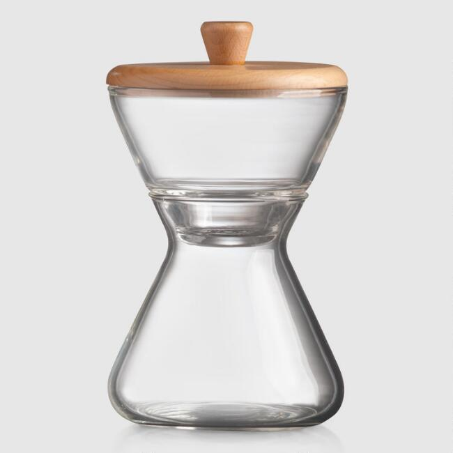 Chemex Hand Blown Glass Cream and Sugar 2 Piece Set