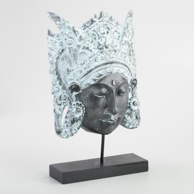 Dewi Sri Head Sculpture with Stand