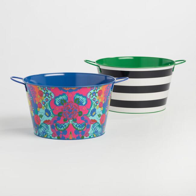 Patterned Party Tubs Set of 2