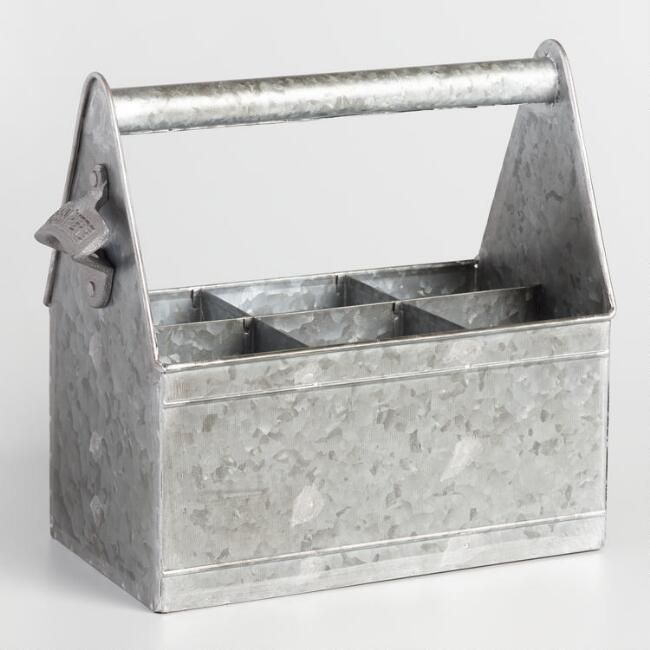 Galvanized Steel Beer Caddy