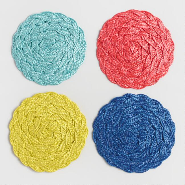 Braided Coasters Set of 4