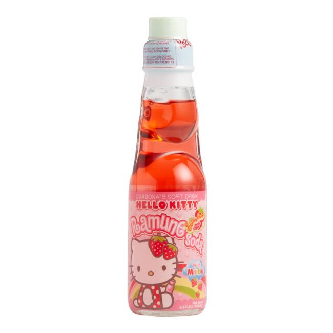 Hello Kitty Ramune Strawberry Soda