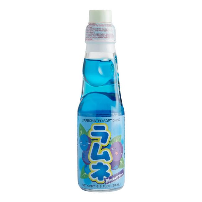 Hatakosen Blueberry Ramune Soda