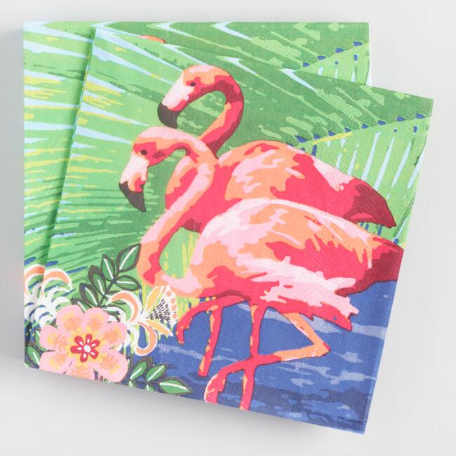 Flamingo Lunch Napkins 20 Count