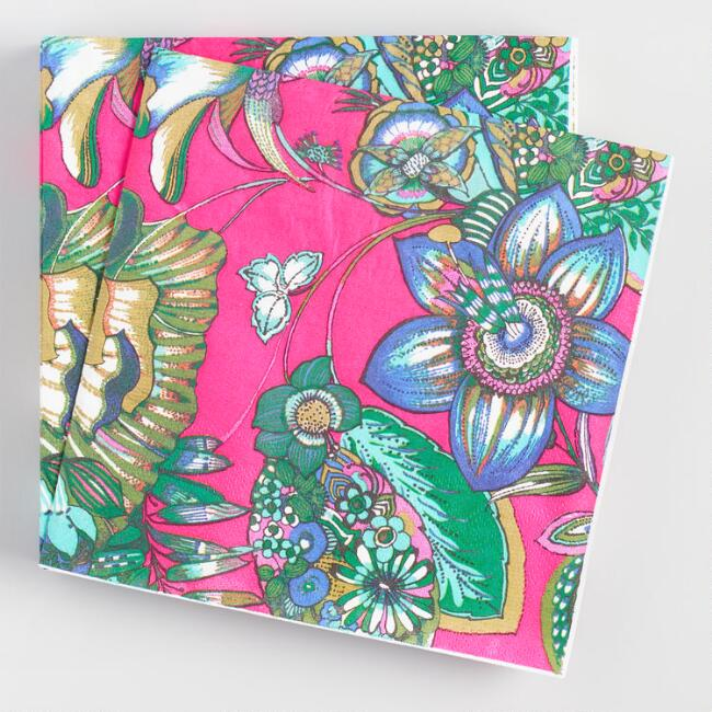 Coastal Blossoms Lunch Napkins 20 Count