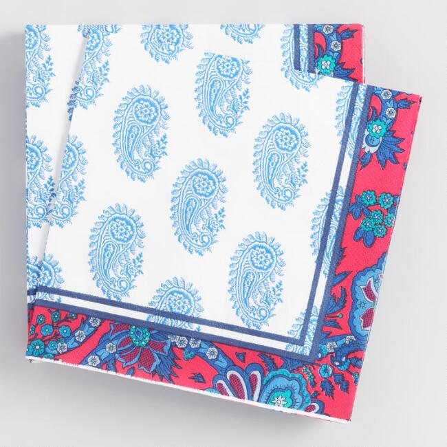 Paisley Lunch Napkins 20 Count