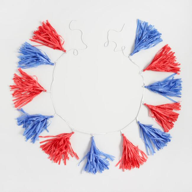 Red, White and Blue Tassels