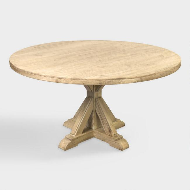 Round Wood Keaton Dining Table