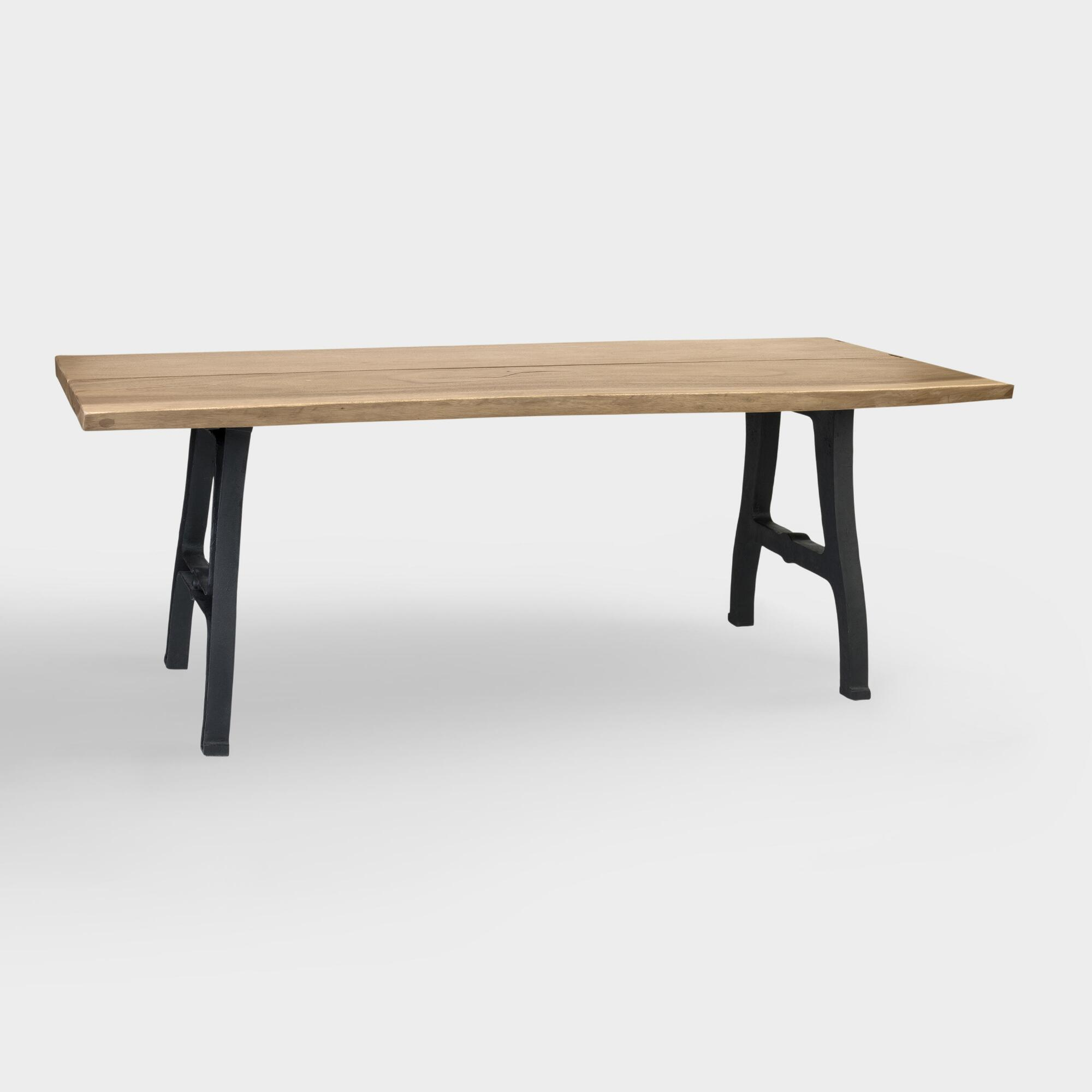 Wood and Metal Henley Dining Table   World Market