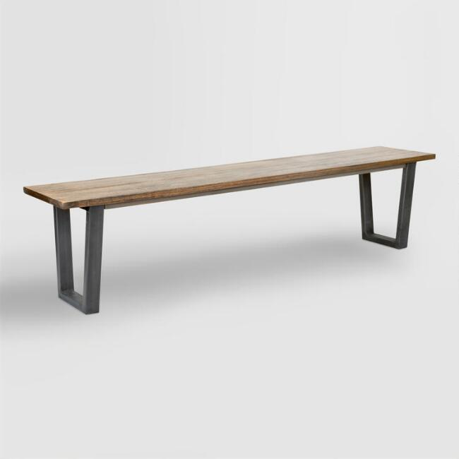 Wood and Metal Ryley Dining Bench