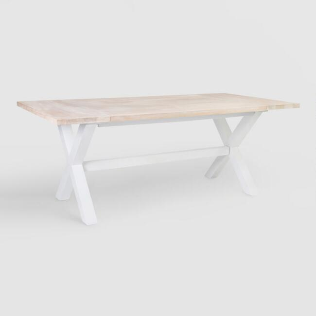 White Wood Orrin Dining Table