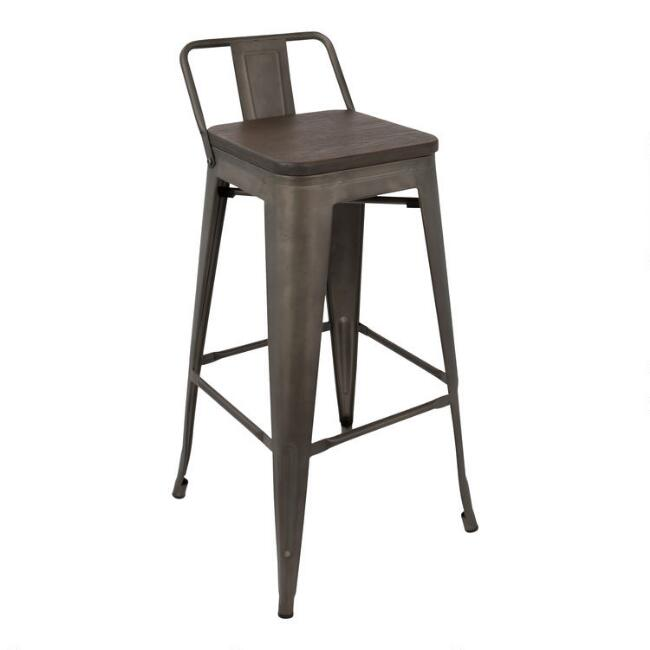 Espresso Arwen Low Back Barstools Set of 2