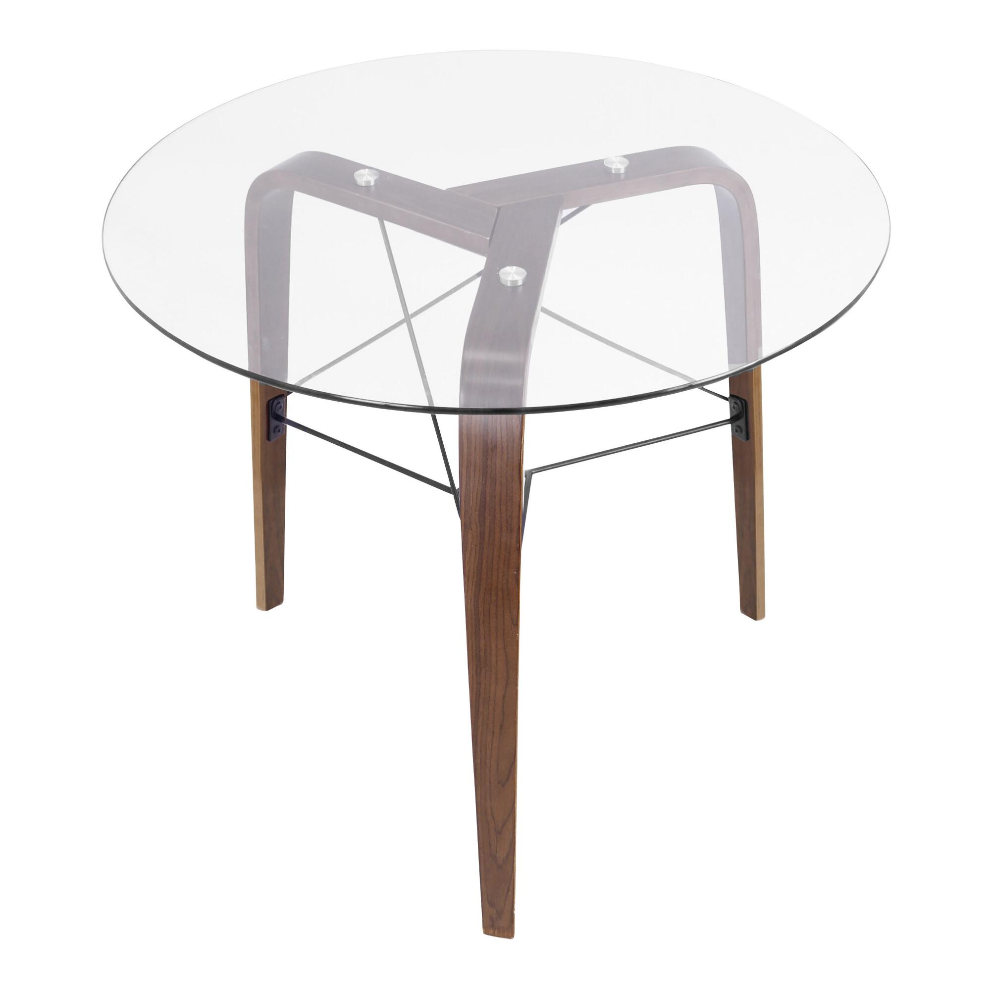 Round Wood and Glass Kirk Dining Table - Small by World Market