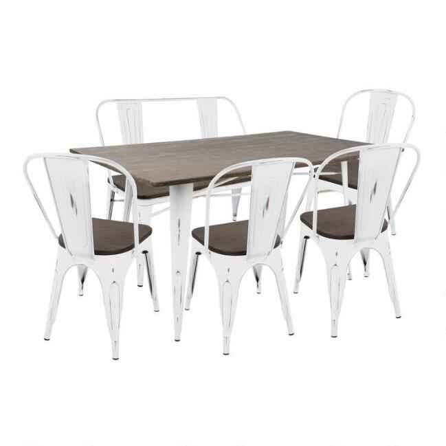 White and Espresso Ridgeby Dining Collection