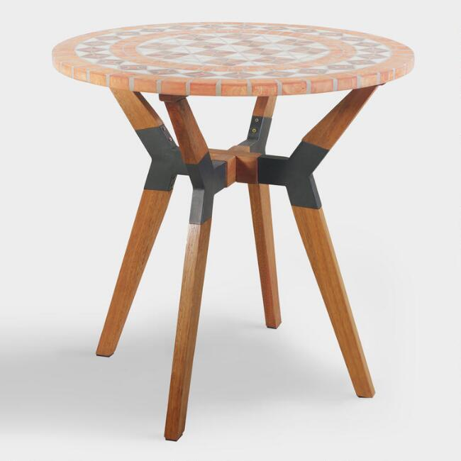 Terracotta Mosaic Canary Outdoor Bistro Table