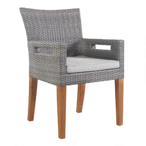 Gray All Weather Wicker Hakui Armchairs Set Of 2 Previous V3 V1