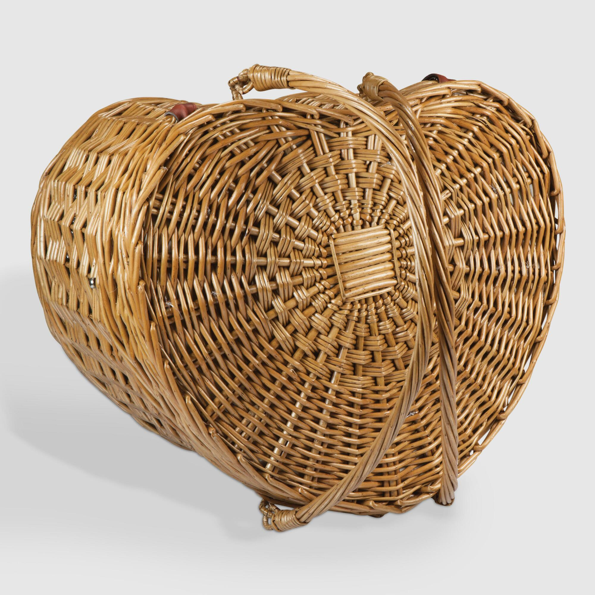 Willow Heart Picnic Basket for Two by World Market