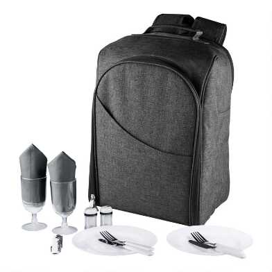 Gray Colorado Insulated Cooler Backpack for Two