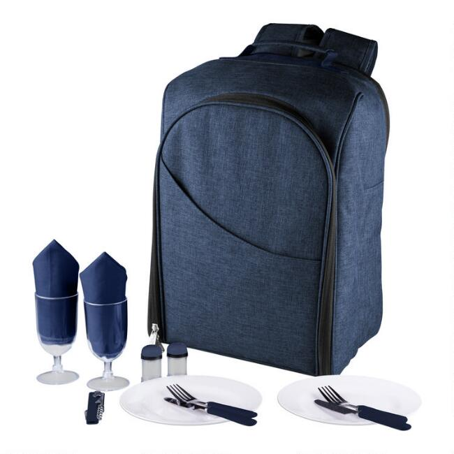 Navy Colorado Insulated Cooler Backpack for Two