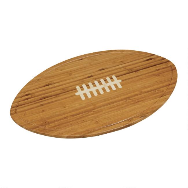 Bamboo Football Kickoff Cheese Board