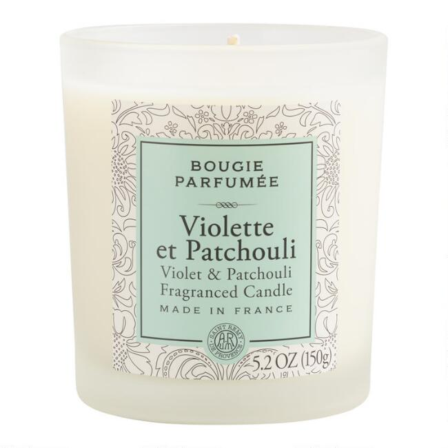 Violet and Patchouli Bougie Filled Candle