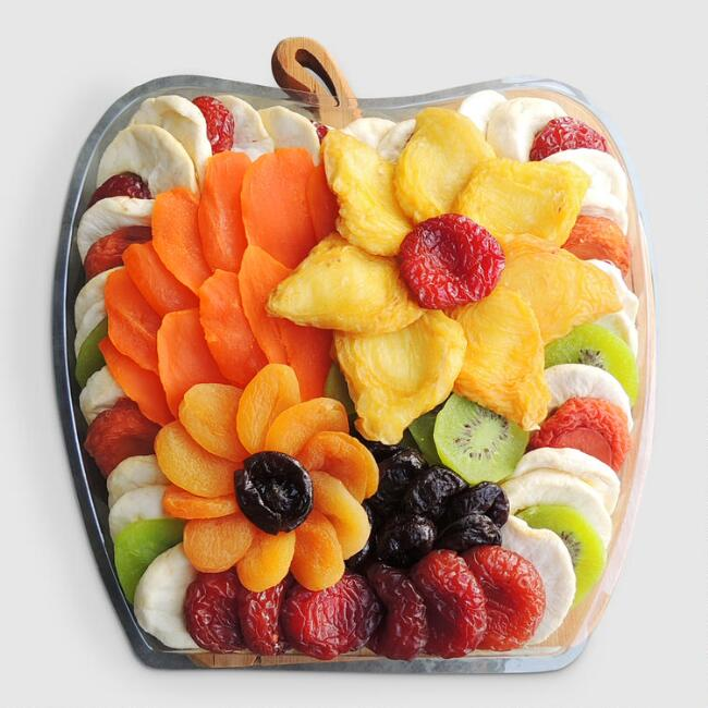 Dried Fruit in Apple Tray Gift Basket