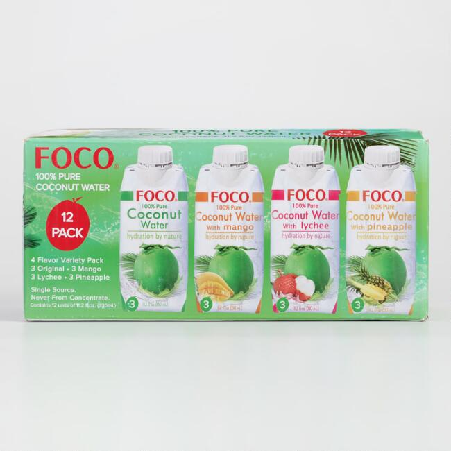 Foco 100% Pure Coconut Water 12 Pack