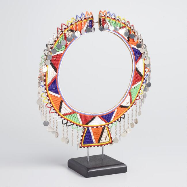 Maasai Wedding Collar on Stand