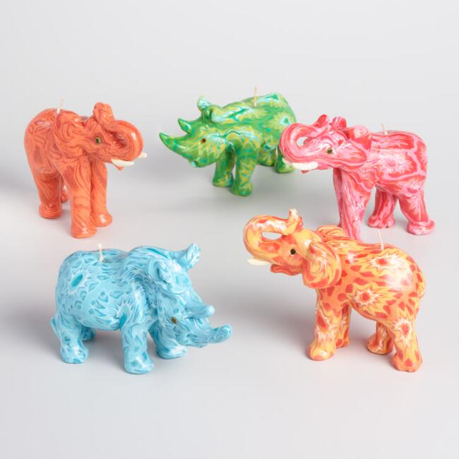 Swaziland Animals Candle Collection
