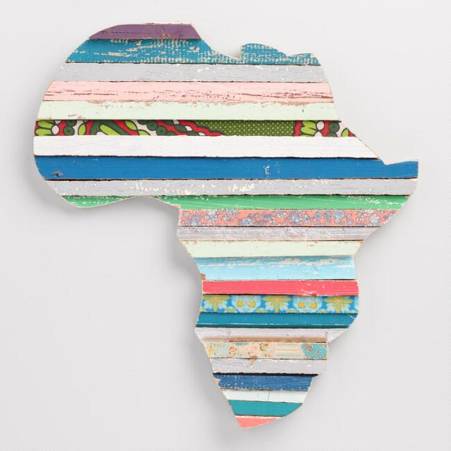 Africa Multicolor Stripes Wall Decor
