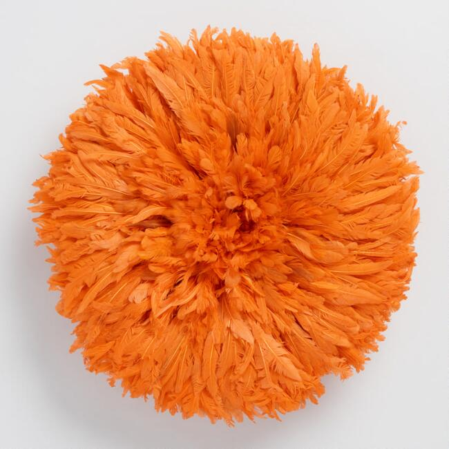 Small Orange Juju Hat Wall Hanging