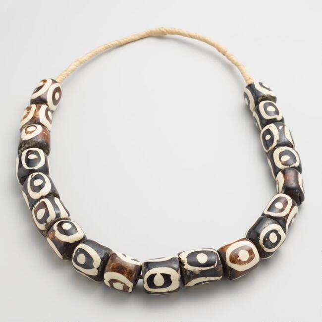 Batik Oval Bone Necklace