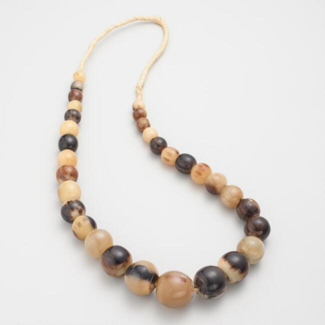 Natural Horn Bead Necklace