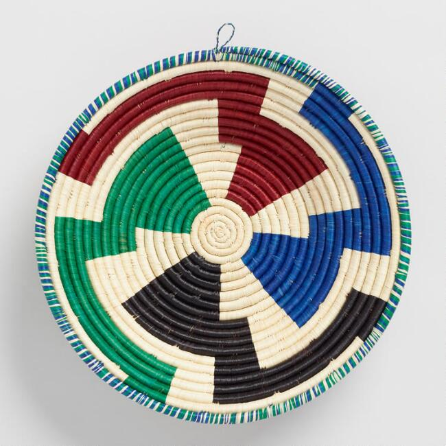 Multicolor Single Coil Raffia Basket