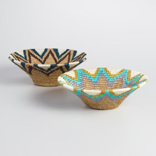 Teal and Navy Swaziland Baskets