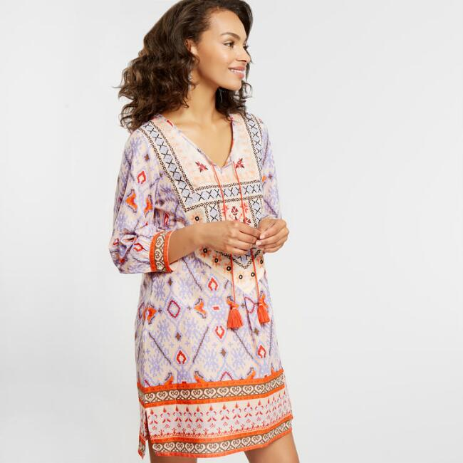Pink Embroidered Leona Dress
