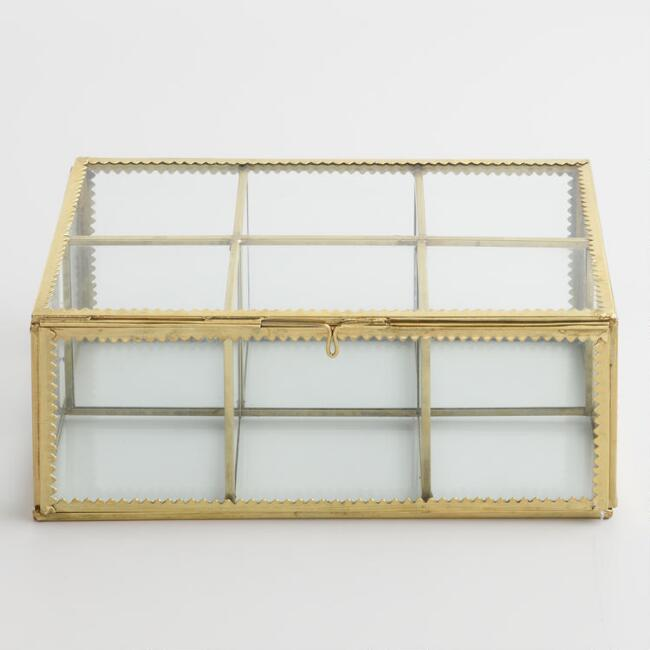 Gold and Glass Tea Storage Box
