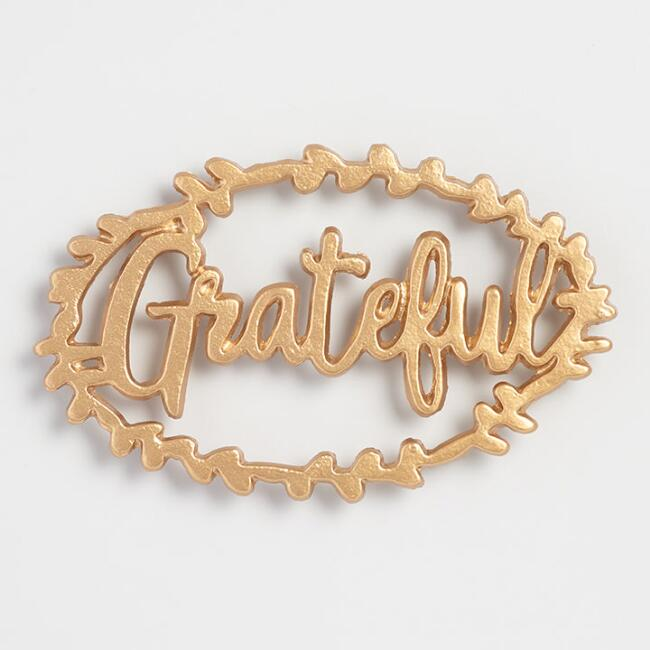Gold Cast Iron Grateful Trivet