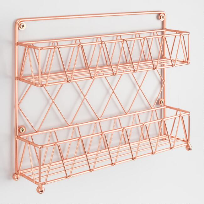 Copper Wire 2 Tier Spice Rack