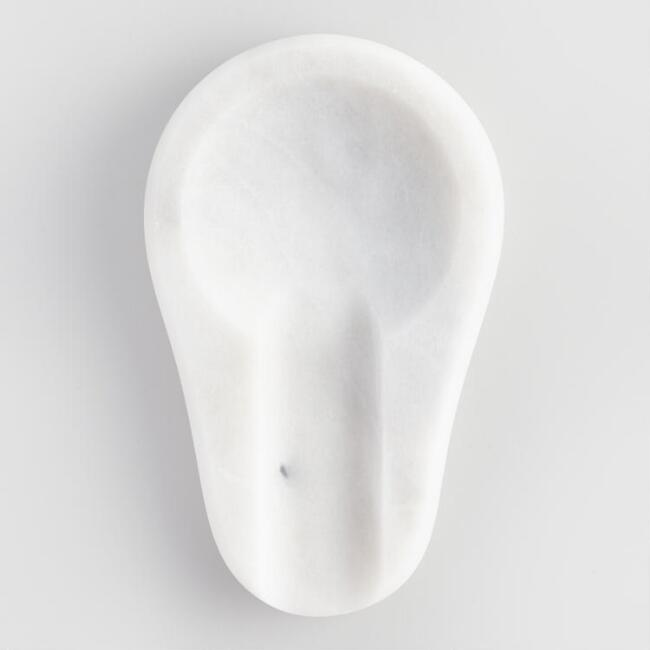 White Marble Spoon Rest