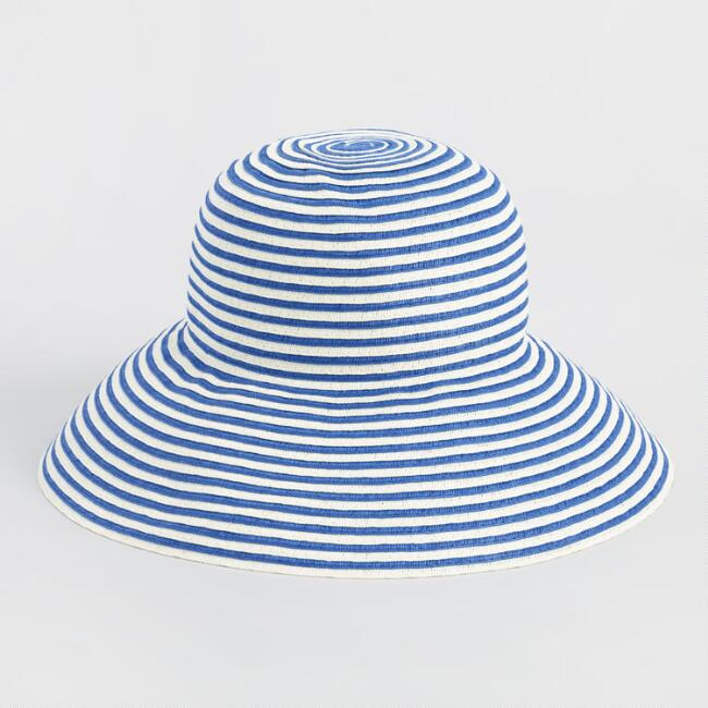 Blue and White Stripe Bucket Hat