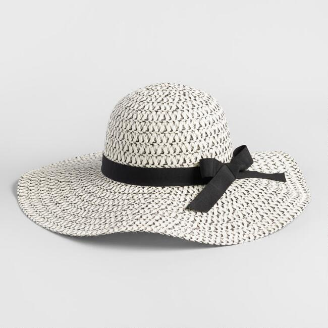 Black and White Bow Sun Hat