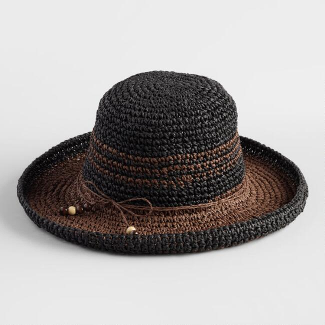 Black and Brown Bucket Hat